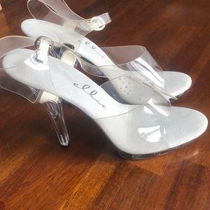 Ellie lucite 5 inch heels size 8